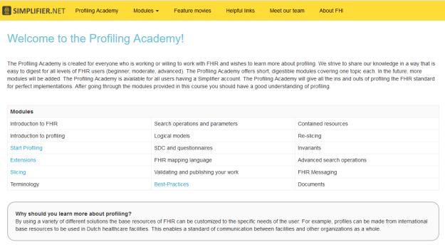 Profiling academy
